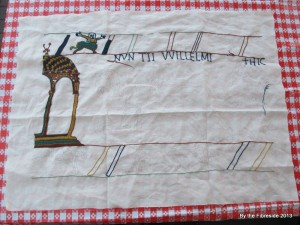 Progress on the Bayeux Tapestry as at Aug. 11, 2013.