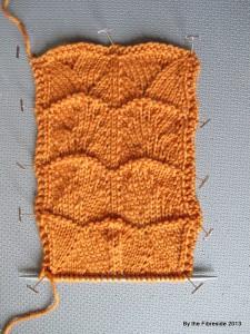 Stitch pattern swatch.