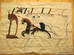 Progress on the Bayeux Tapestry as at Dec. 1, 2013
