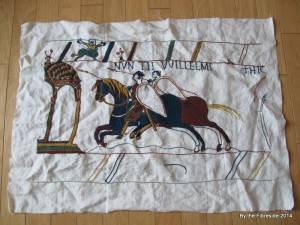 Progress on the Bayeux Tapestry as at Feb. 9, 2014.