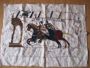 Progress on the Bayeux Tapestry as at May 4, 2014