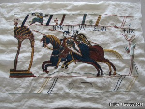 Progress on the Bayeux Tapestry as at May 19, 2014