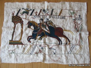 Progress on the Bayeux Tapestry as at June 1, 2014