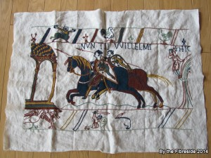Progress on the Bayeux Tapestry as at June 29, 2014