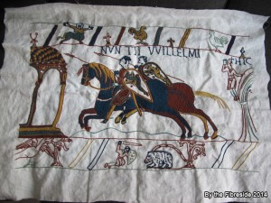 Progress on the Bayeux Tapestry as at Aug. 2, 2014