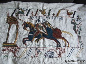 Progress on the Bayeux Tapestry as at Aug. 10, 2014