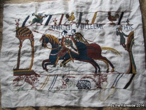 Progress on the Bayeux Tapestry as at Sept. 7, 2014