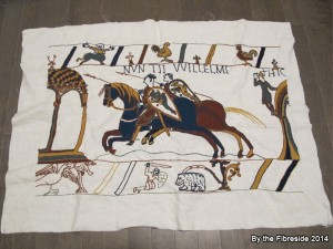 Progress on the Bayeux Tapestry as at Sept. 21, 2014