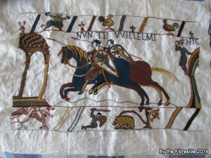 Progress on the Bayeux Tapestry as at Oct. 5, 2014