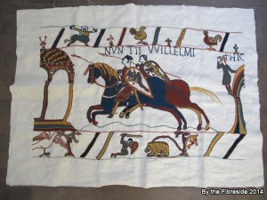 Progress on the Bayeux Tapestry as at Nov. 2, 2014